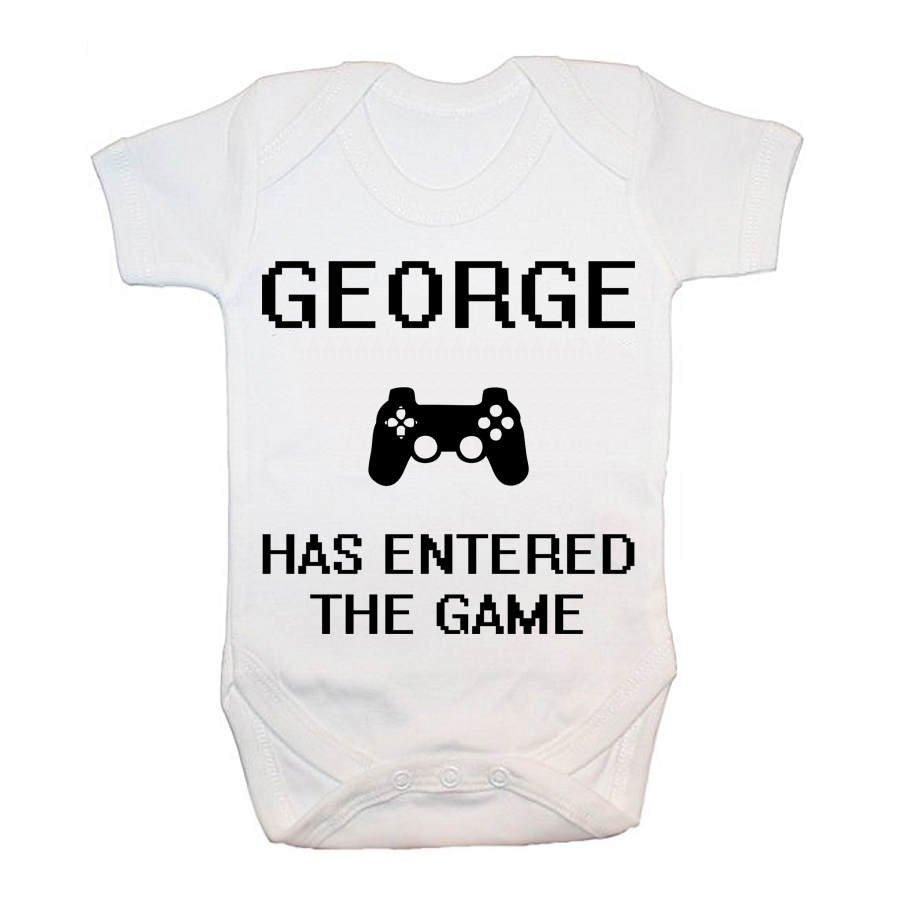Personalised Baby Has Entered The Game Baby Grow - treat-republic