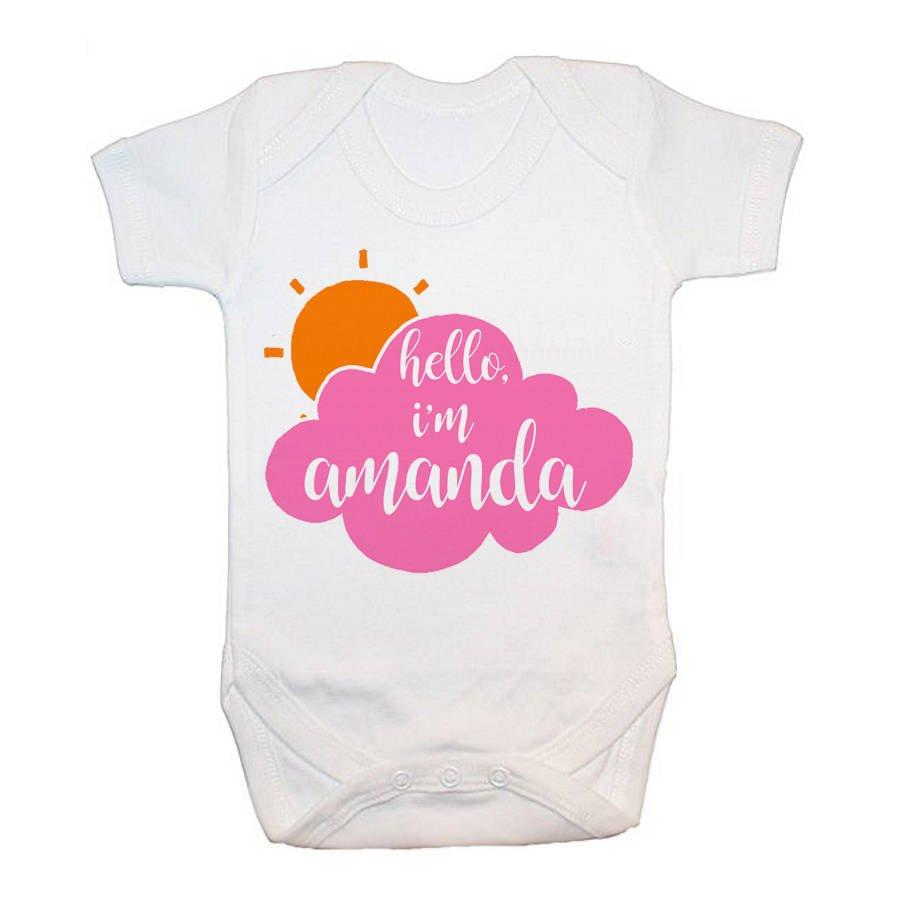 Personalised Baby On Cloud Baby Grow