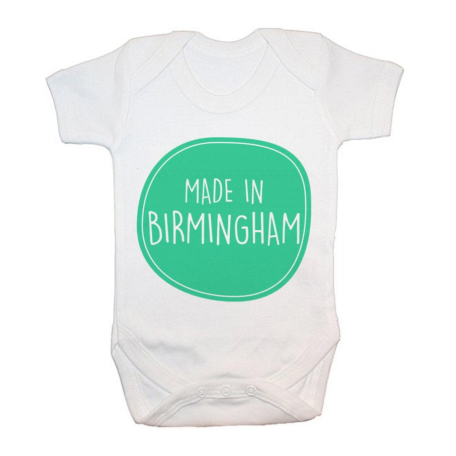 Personalised Made In Baby Grow - treat-republic