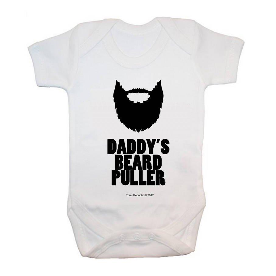 Daddy's Beard Puller Baby Bodysuit - treat-republic