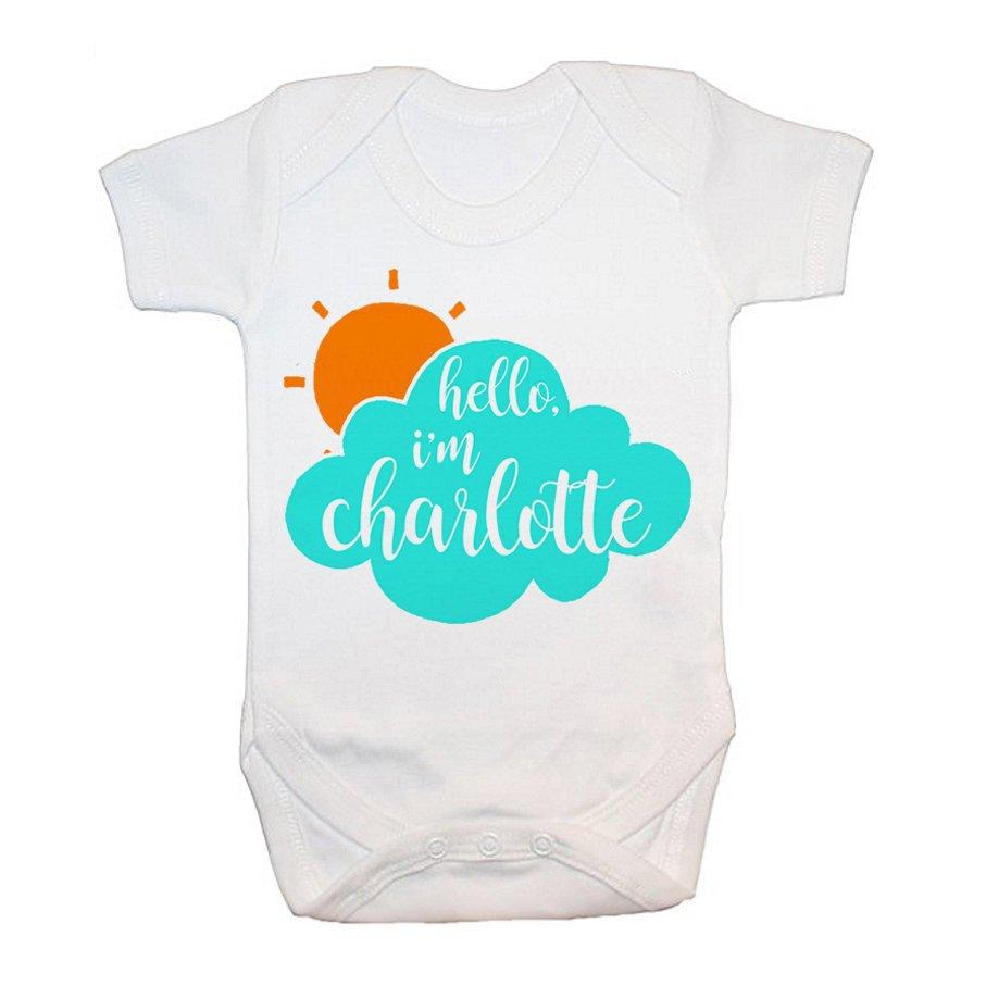 Personalised Baby On Cloud Baby Grow - treat-republic