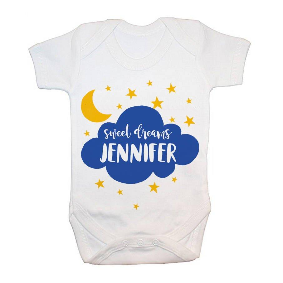 Personalised Sweet Dreams Baby Grow