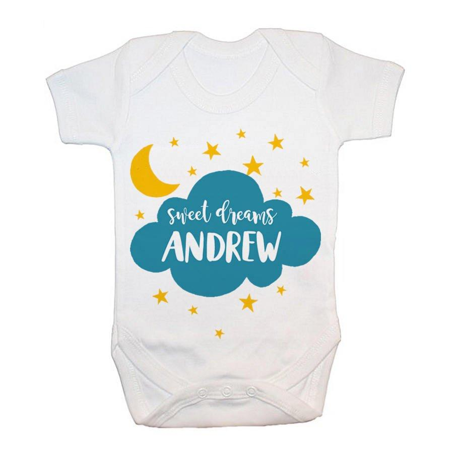 Personalised Sweet Dreams Baby Grow - treat-republic