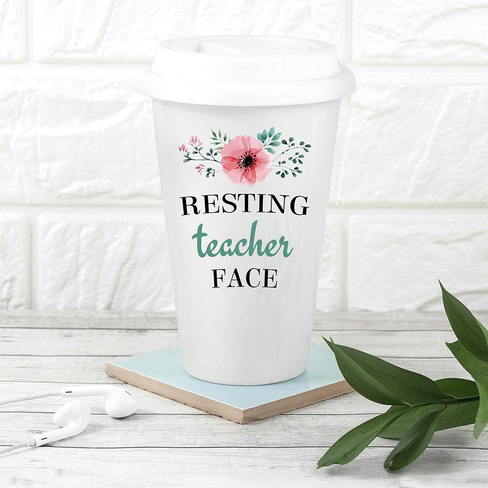 Personalised Teacher's Fuel Travel Mug - treat-republic