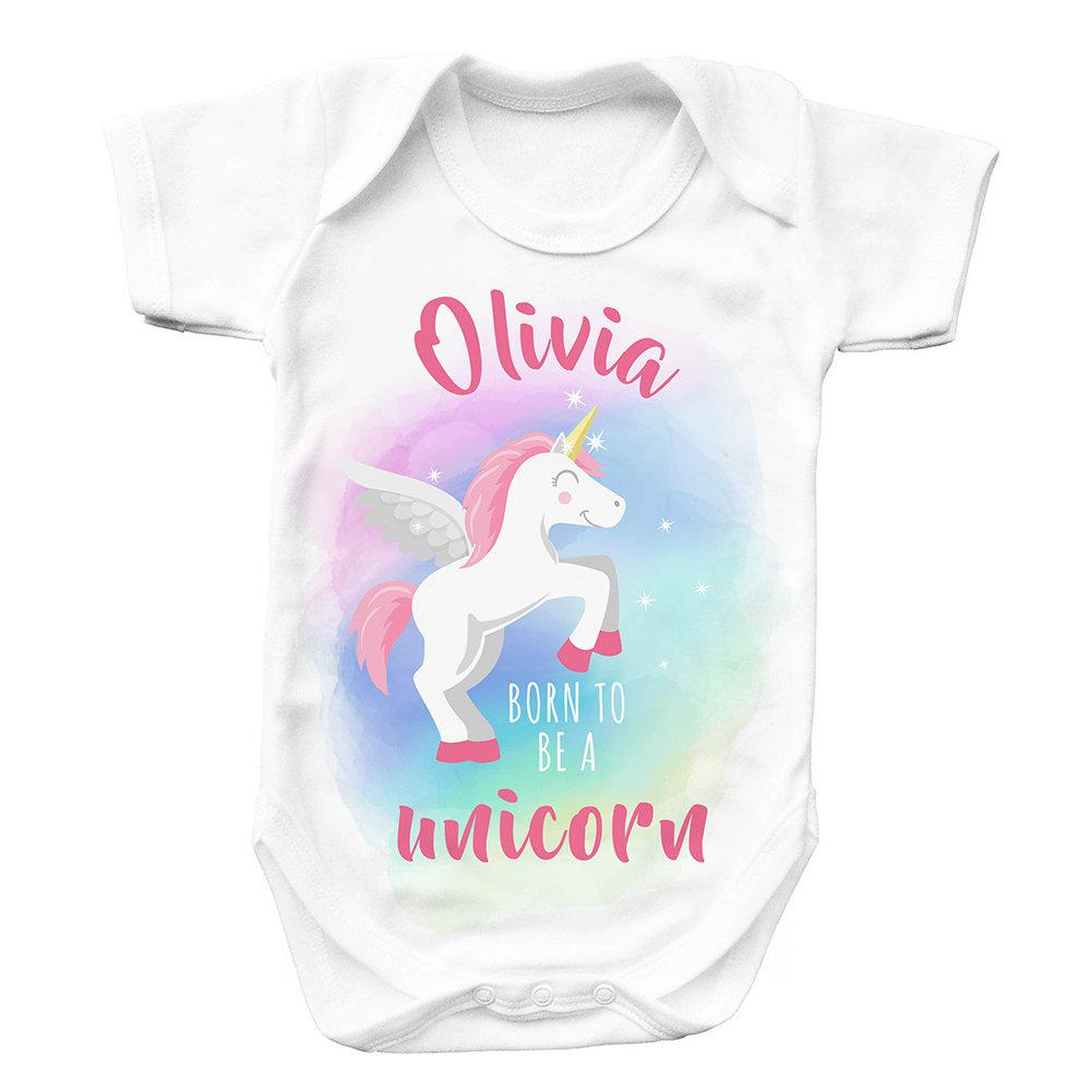 Personalised Baby Unicorn Baby Grow
