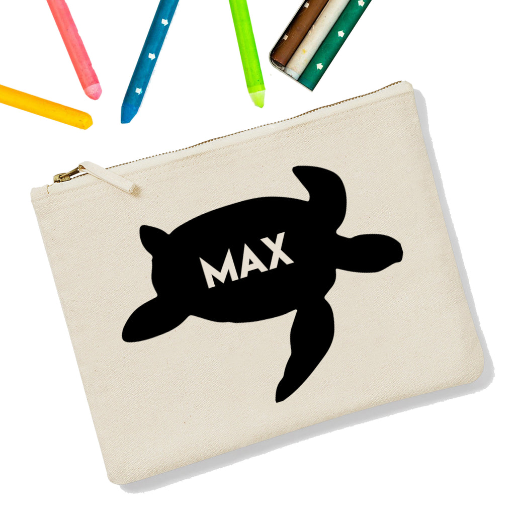 Sea Turtle Personalised Zipup Pencil Case