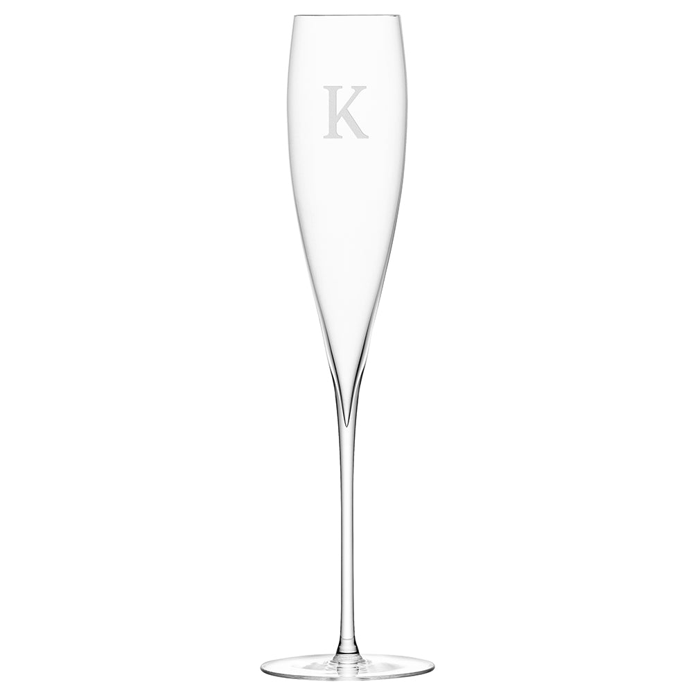 LSA Personalised Savoy Champagne Flutes