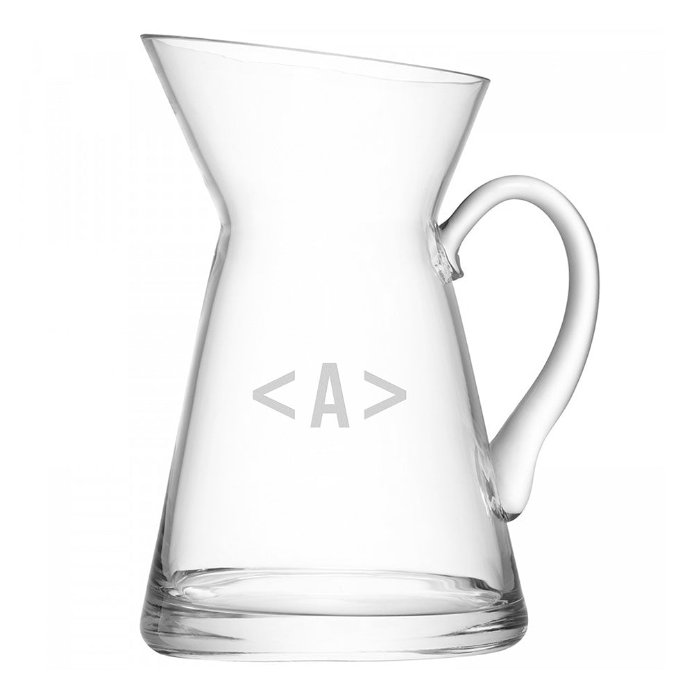 LSA Monogrammed Jug Flower Vase - treat-republic