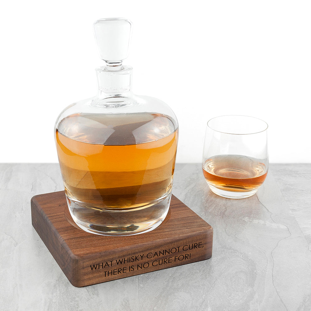 Personalised LSA Whisky Decanter & Walnut Base - treat-republic