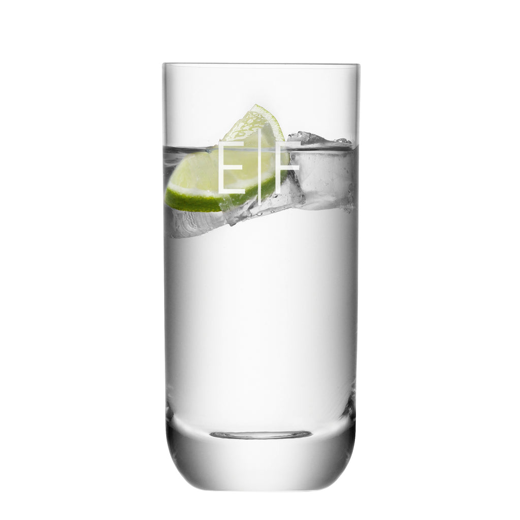 Monogrammed Hamilton Highball Glass - treat-republic