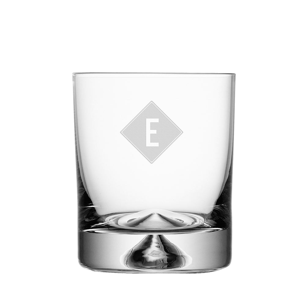 Monogrammed Pyramid Whiskey Tumbler - treat-republic