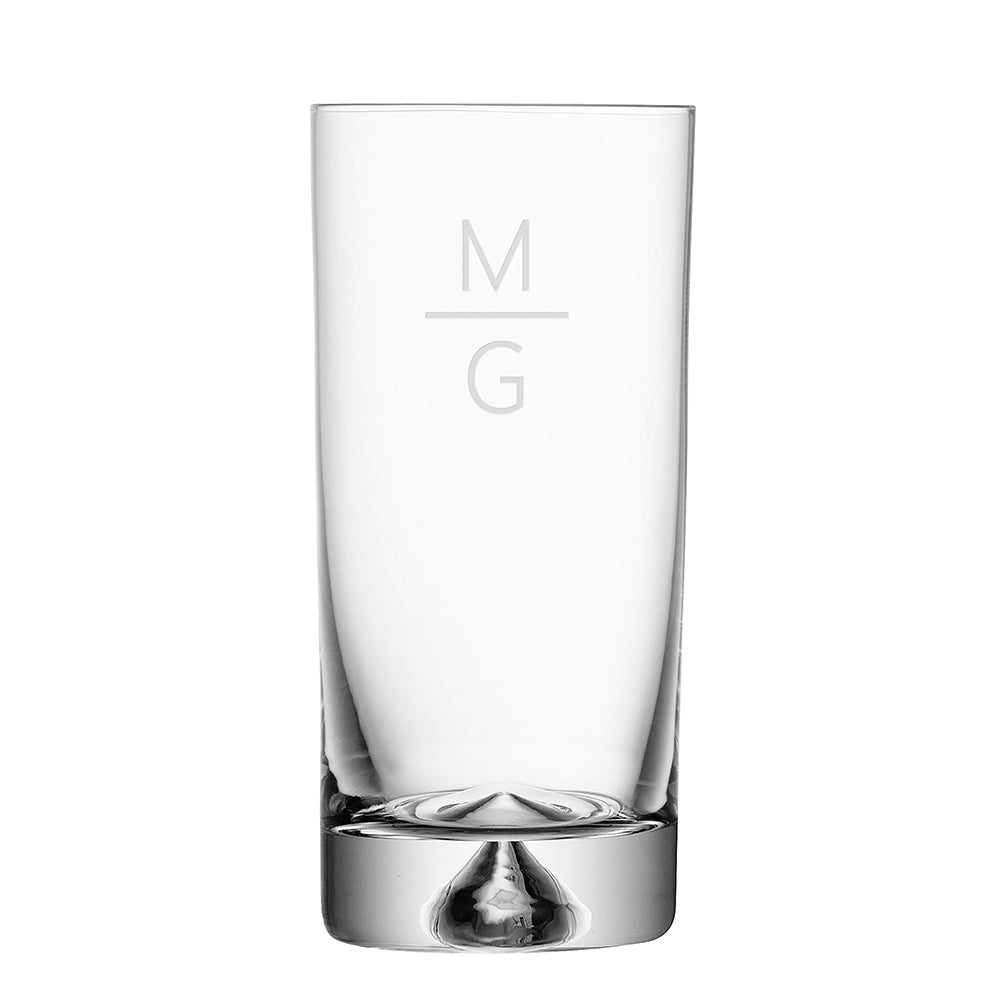 Monogrammed Pyramid Highball