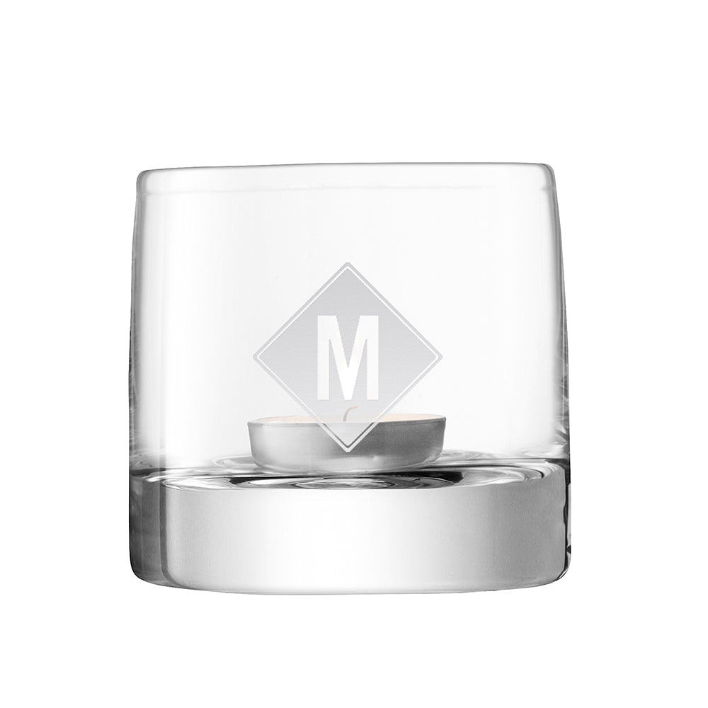 LSA Monogrammed Light Tealight Holder - treat-republic
