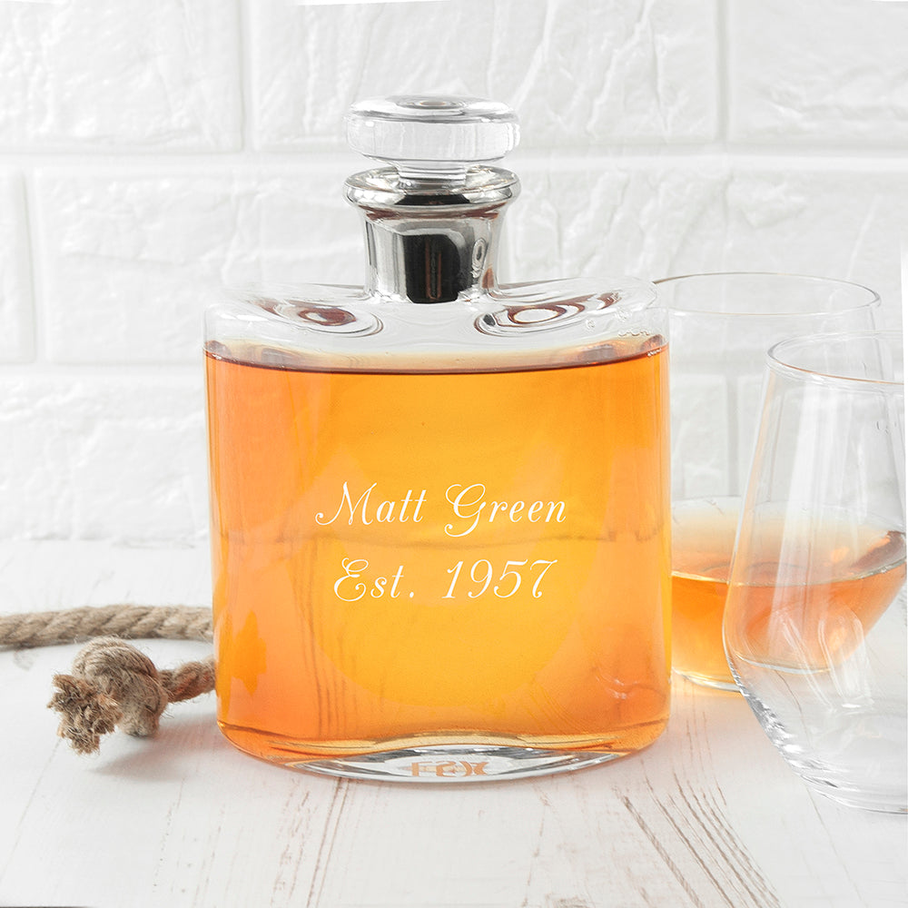 LSA Personalised Platinum Necked Decanter - treat-republic