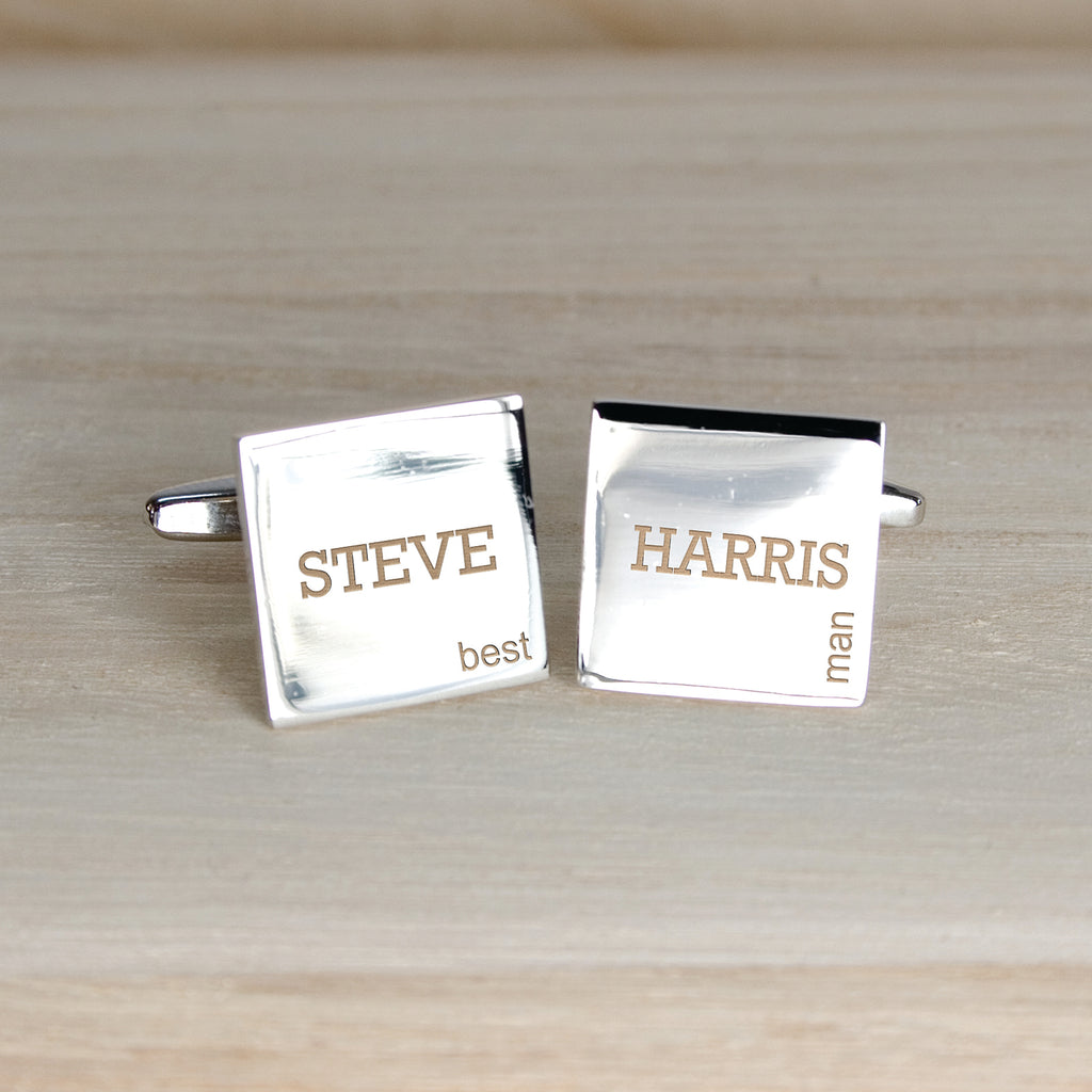 Modern Style Wedding Cufflinks - treat-republic
