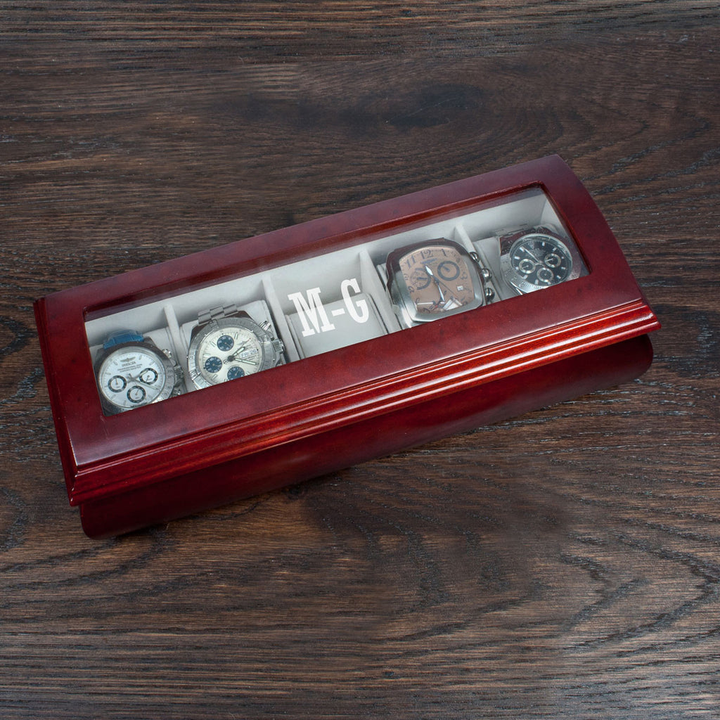 Monogram Wooden Watch Box - treat-republic