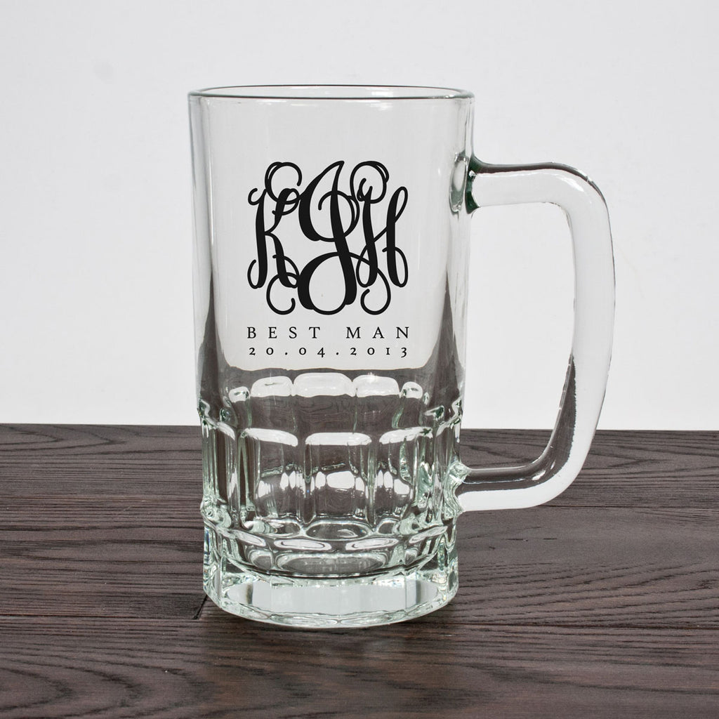 Monogrammed Best Man Tankard - treat-republic