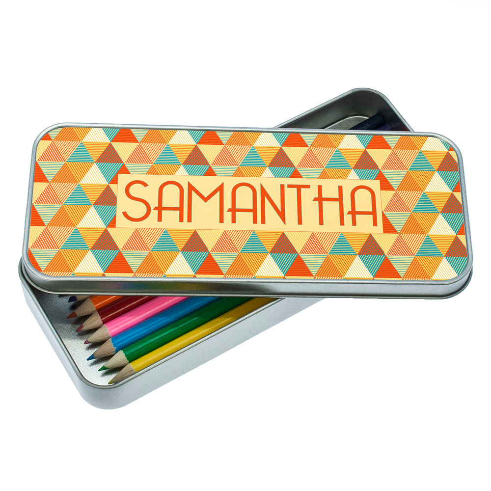 Multi-Coloured Pyramids Pencil Case - treat-republic