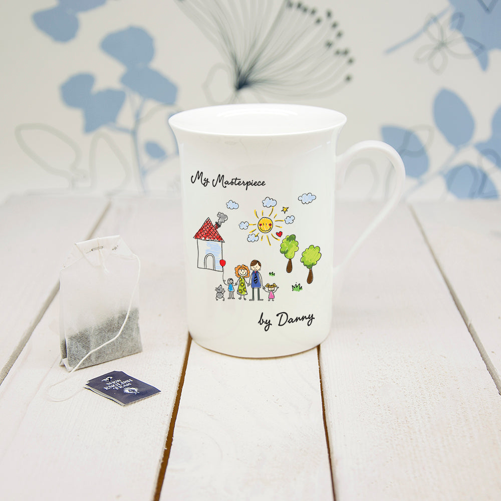 My Mini Masterpiece Personalised Artwork Bone China Mug - treat-republic
