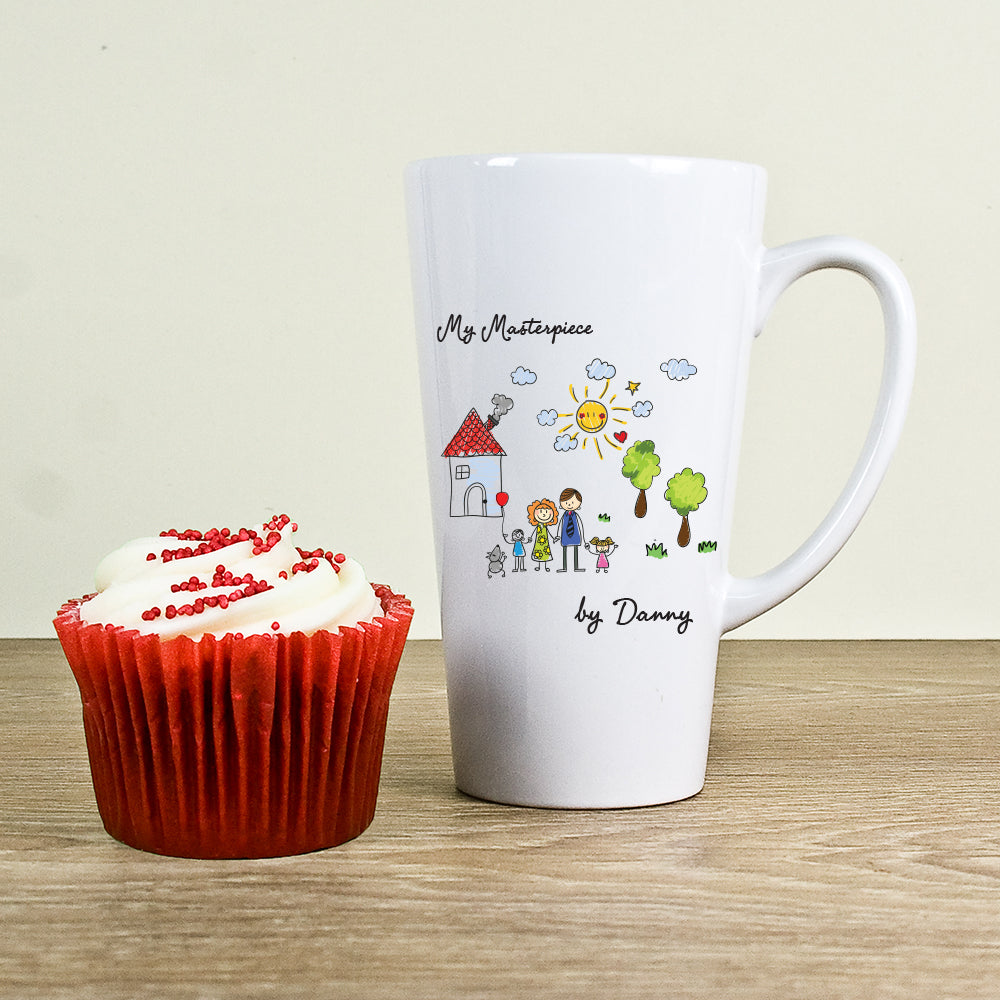 My Mini Masterpiece Personalised Artwork Latte Mug - treat-republic