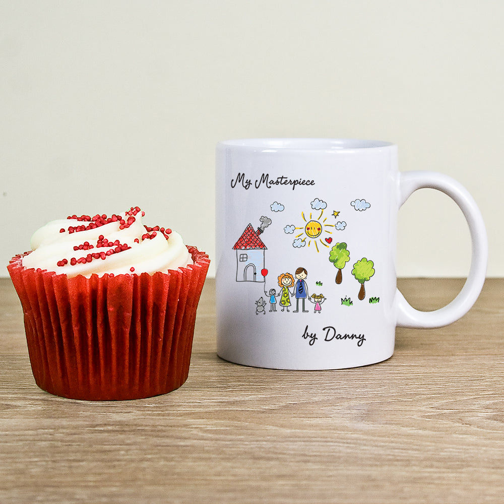 My Mini Masterpiece Personalised Artwork Mug - treat-republic
