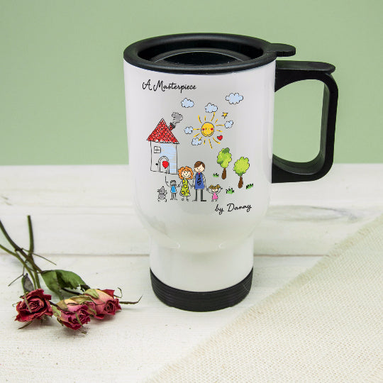 My Mini Masterpiece Personalised Artwork Travel Mug - treat-republic