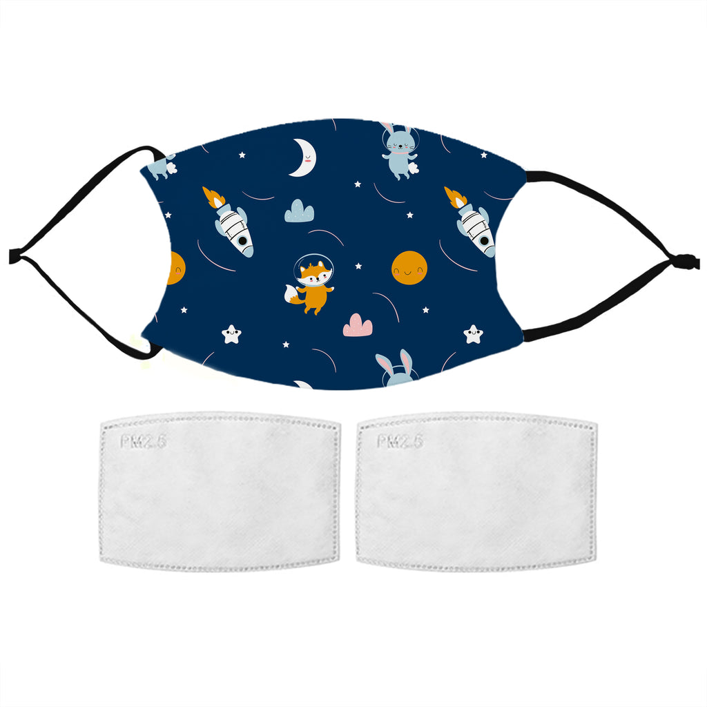 Kids Printed Face Mask - Space Adventure
