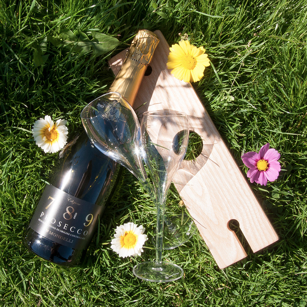 Personalised Welsh Ash Wooden Champagne Holder - treat-republic