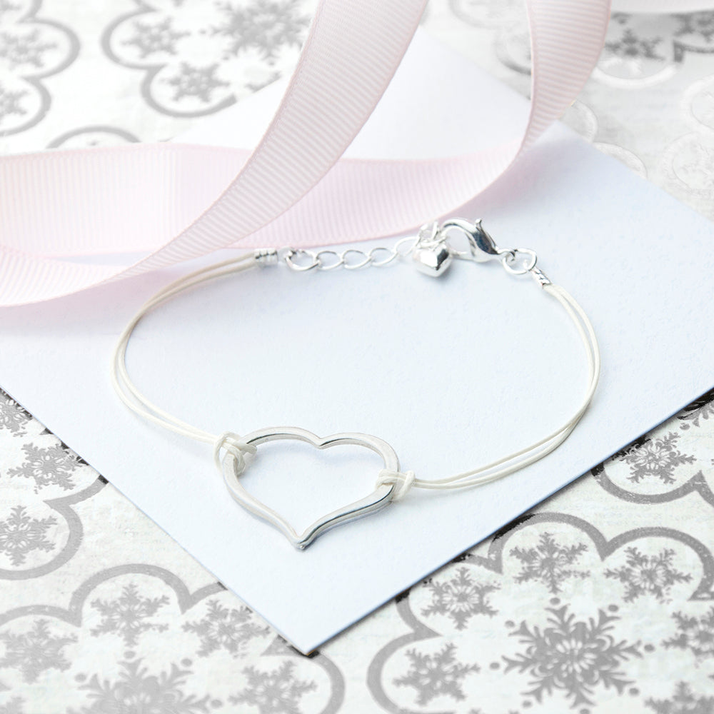 Personalised Open Heart Friendship Bracelet