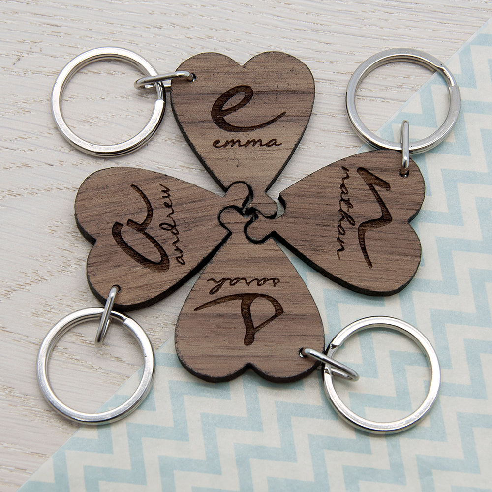 Best Friends Forever Heart Wooden Keyring - treat-republic