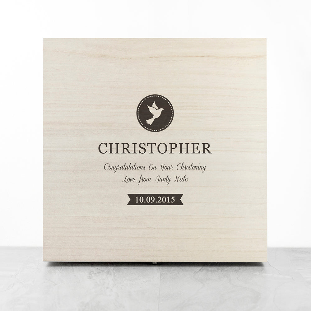 Christening Memory Box With Special Message - treat-republic