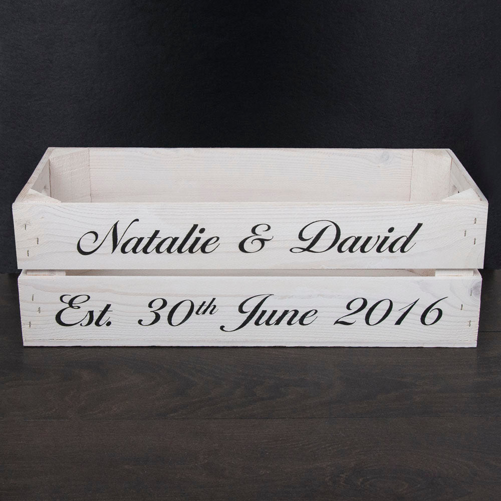 Personalised Wedding Crate - treat-republic