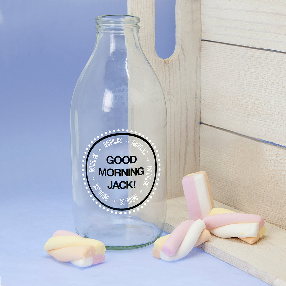 Good Morning Little One Milk Bottle & Straw