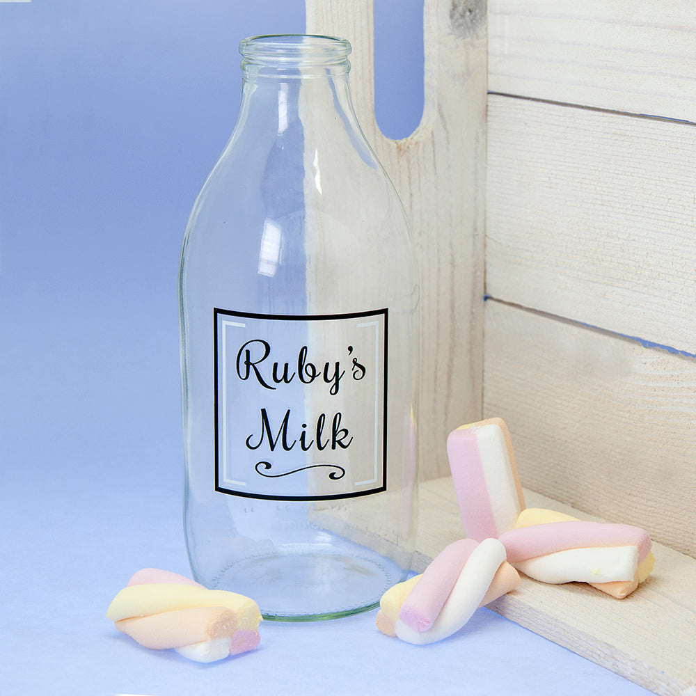 Children's Personalised Milk Bottle & Straw - treat-republic