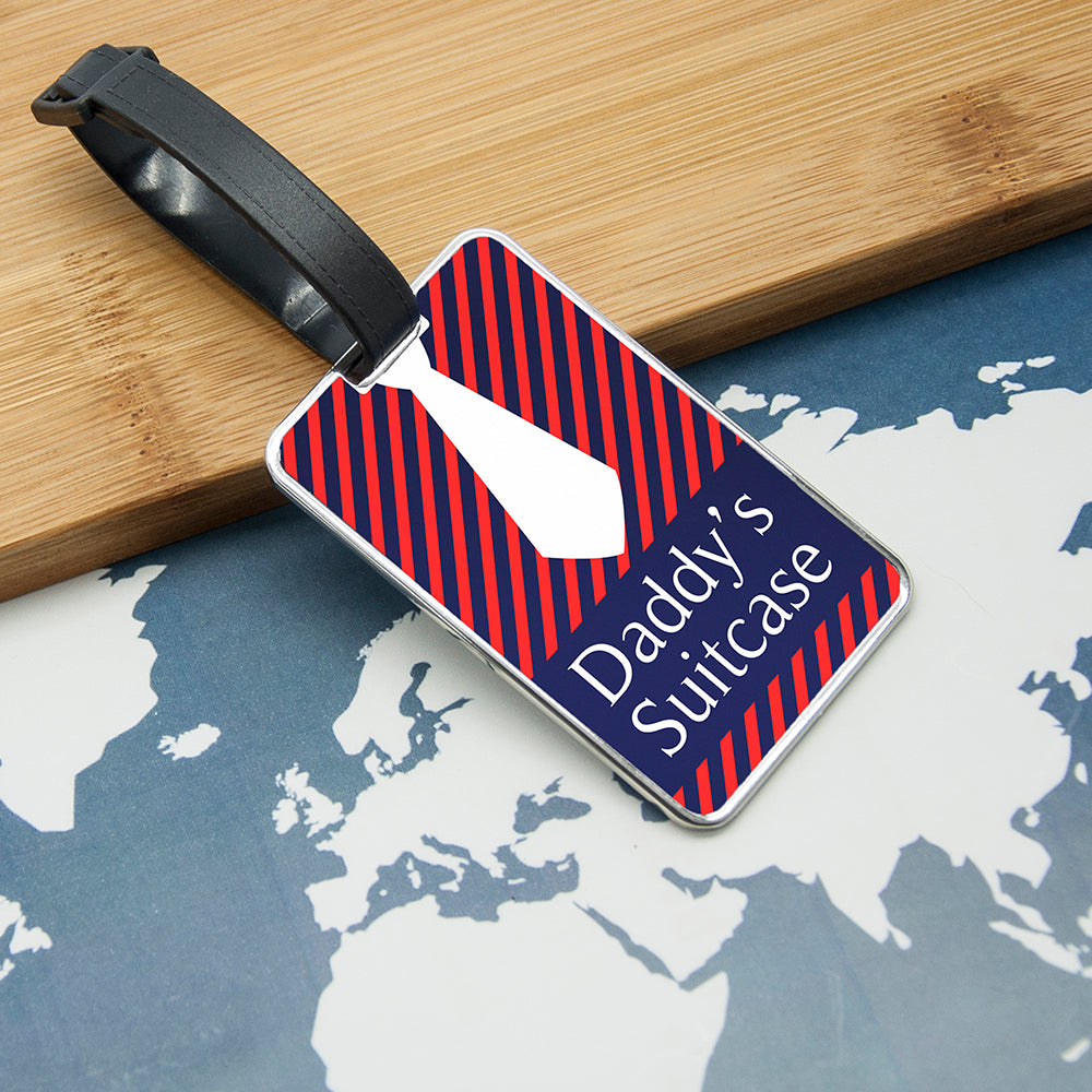 Gentlemen's Shirt And Tie Luggage Tag - treat-republic