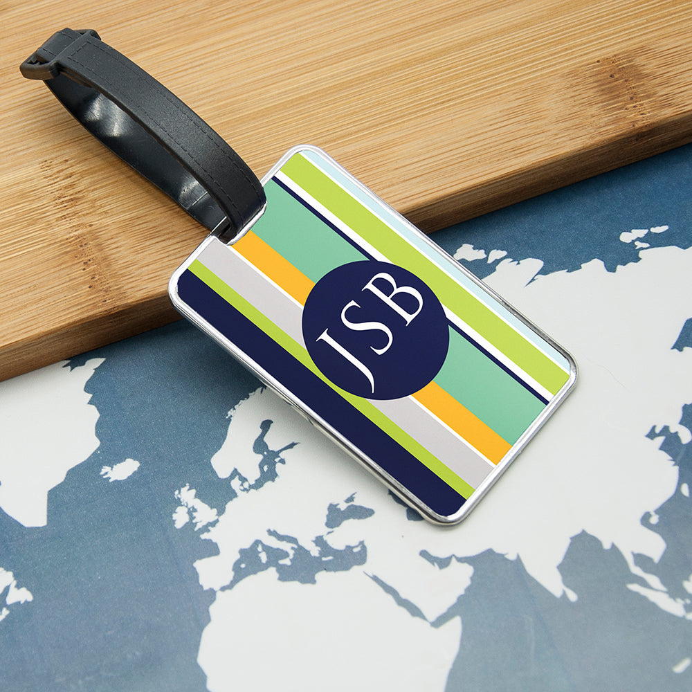 Gentlemen's Multi-Layered Monogrammed Luggage Tag - treat-republic