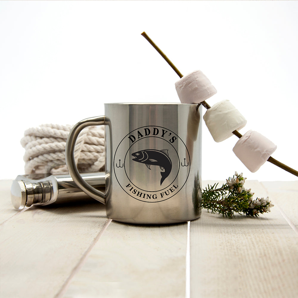 Gentlemen's Fishing Fuel Outdoor Mug - treat-republic
