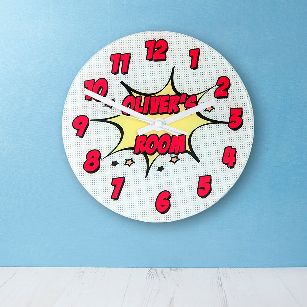 Pow! Personalised Comic Wall Clock - treat-republic