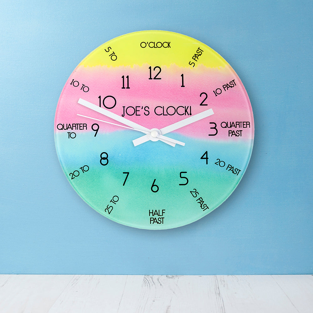 I Can Tell The Time! Personalised Wall Clock - treat-republic