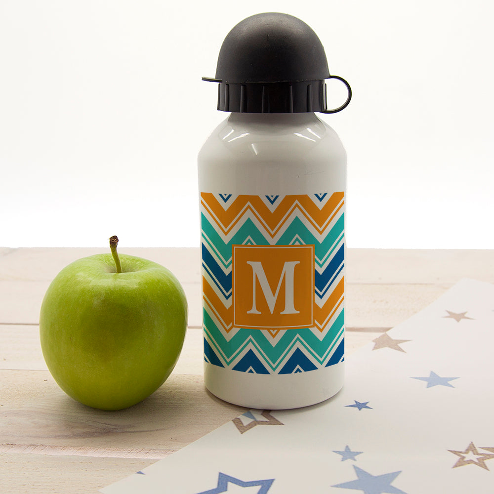 Vibrant Zig Zagged Personalised Water Bottle - treat-republic