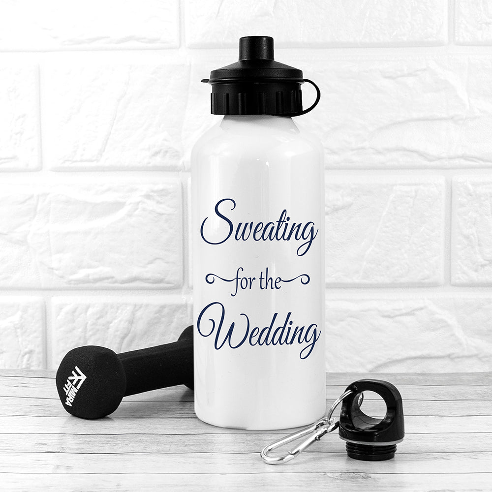Sweating For The Wedding Personalised Water Bottle - treat-republic