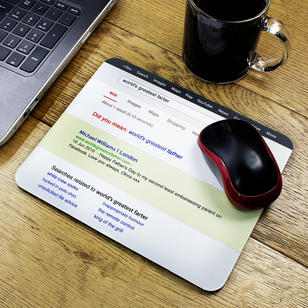 Web Search Personalised Father's Day Mouse Pad - treat-republic