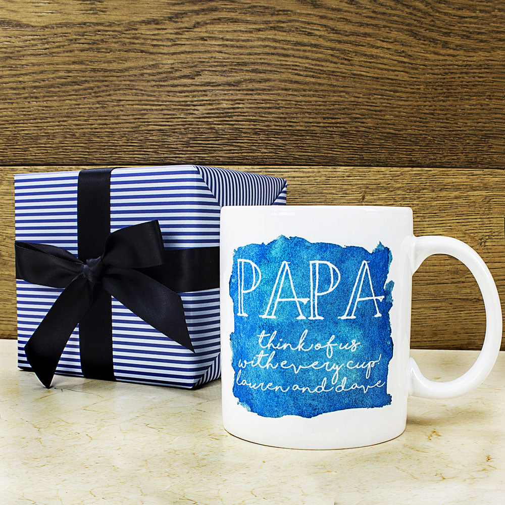 Coastal Watercolour Personalised Mug