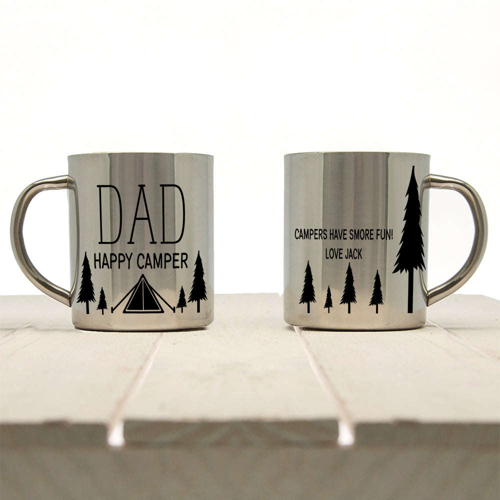 Dad's Happy Camper Outdoor Mug - treat-republic