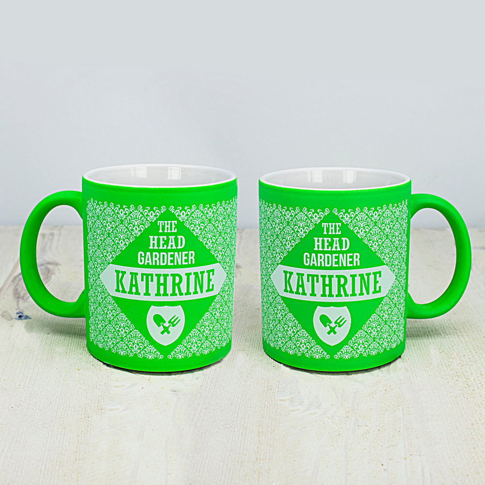 Floral Patterned Head Gardener Coloured Mug - treat-republic