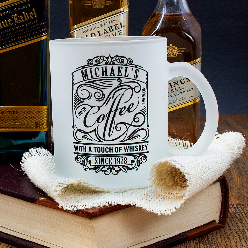 Coffee With a Touch of Whiskey Frosted Mug