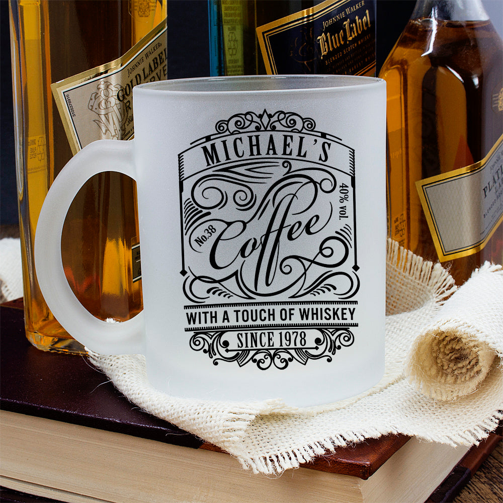 Coffee With a Touch of Whiskey Frosted Mug - treat-republic