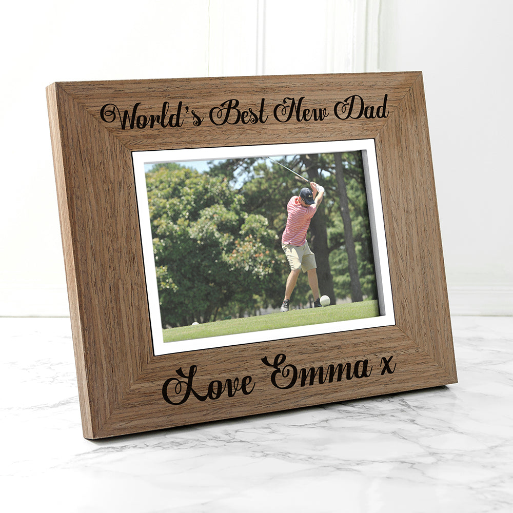 World's Best New Dad Wooden Frame - treat-republic