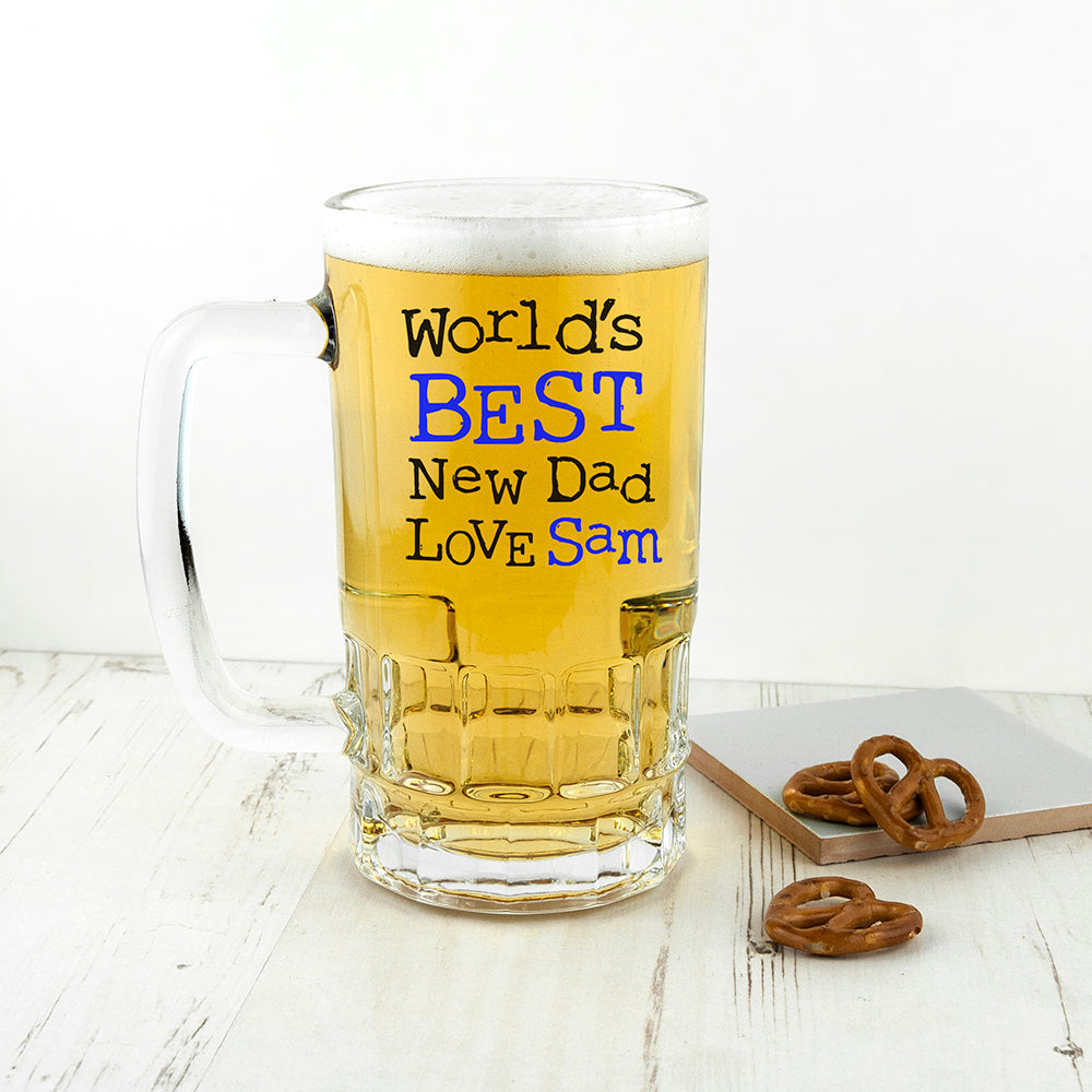 World's Best New Dad Tankard - treat-republic