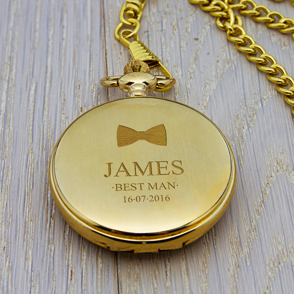 Personalised Groomsman Icon Collection Pocket Watch
